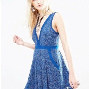 Free People womens Dress Small Size Blue Lace Bril